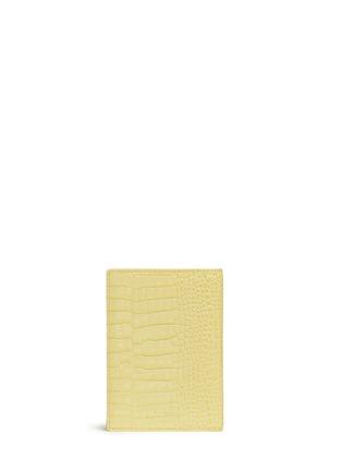 背面 –点击放大 - SMYTHSON - Mara鳄鱼纹护照夹