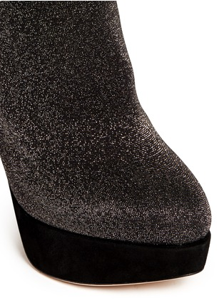 Detail View - Click To Enlarge - Charlotte Olympia - 'More is More' glitter stocking thigh high boots