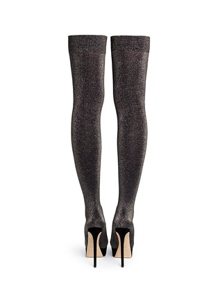 Back View - Click To Enlarge - Charlotte Olympia - 'More is More' glitter stocking thigh high boots