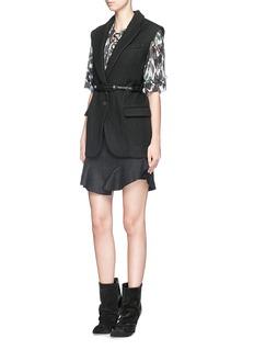 ISABEL MARANTHeko' virgin wool twill vest