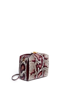 ALEXANDER MCQUEEN'The Box Bag' in python leather