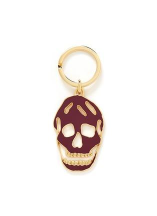 Main View - Click To Enlarge - Alexander McQueen - Cutout enamel skull keyring