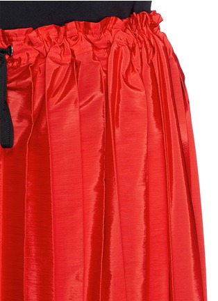 Detail View - Click To Enlarge - VICTORIA, VICTORIA BECKHAM - Washed taffeta drawstring pleat skirt