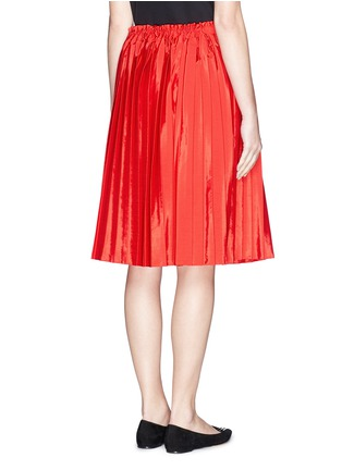 Back View - Click To Enlarge - VICTORIA, VICTORIA BECKHAM - Washed taffeta drawstring pleat skirt