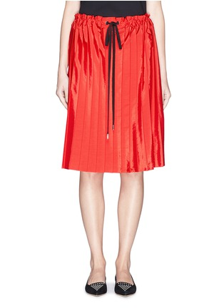 Main View - Click To Enlarge - VICTORIA, VICTORIA BECKHAM - Washed taffeta drawstring pleat skirt