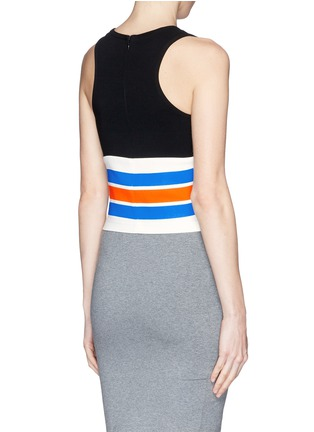 Back View - Click To Enlarge - TANYA TAYLOR - 'Mona' stripe cropped tank top
