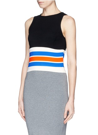 Front View - Click To Enlarge - TANYA TAYLOR - 'Mona' stripe cropped tank top