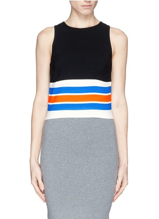 Main View - Click To Enlarge - TANYA TAYLOR - 'Mona' stripe cropped tank top