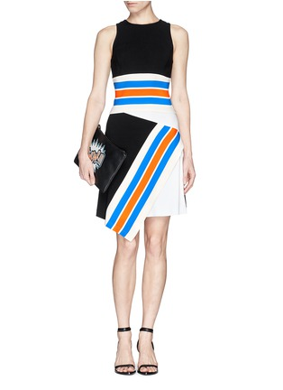Figure View - Click To Enlarge - TANYA TAYLOR - 'Mona' stripe cropped tank top