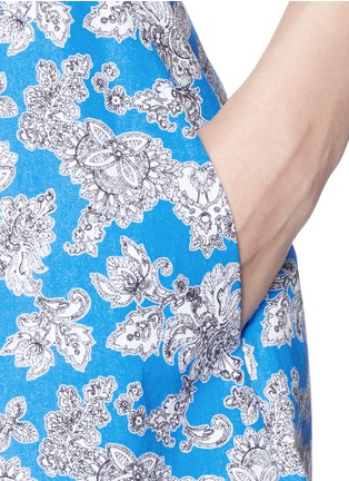 Detail View - Click To Enlarge - TANYA TAYLOR - 'Florence' micro floral print cotton skater skirt