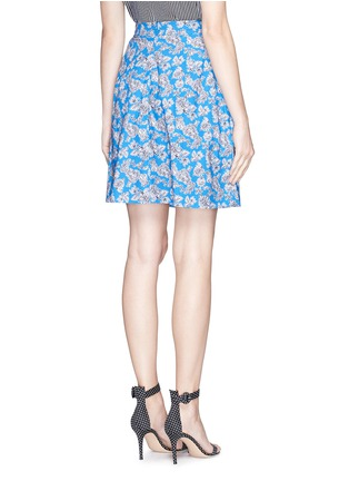 Back View - Click To Enlarge - TANYA TAYLOR - 'Florence' micro floral print cotton skater skirt