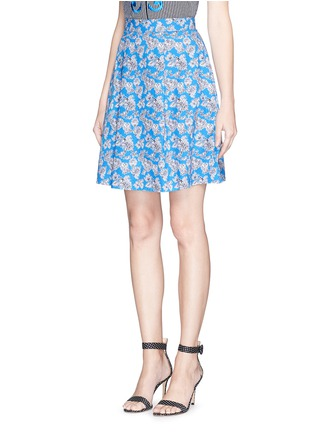 Front View - Click To Enlarge - TANYA TAYLOR - 'Florence' micro floral print cotton skater skirt