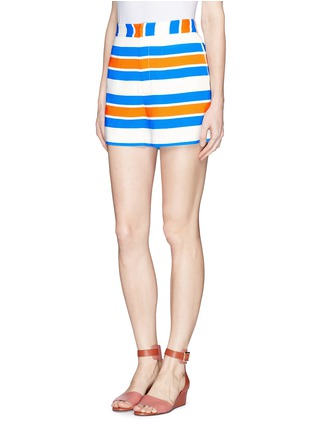 Front View - Click To Enlarge - TANYA TAYLOR - 'Annabelle' stripe shorts