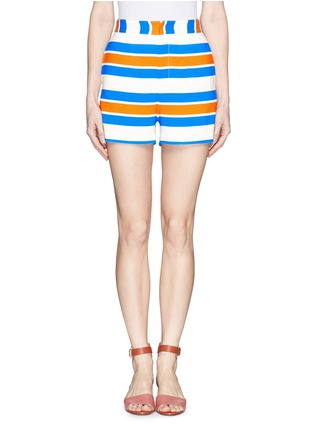 Main View - Click To Enlarge - TANYA TAYLOR - 'Annabelle' stripe shorts