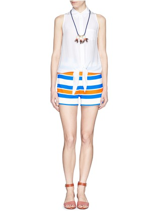 Figure View - Click To Enlarge - TANYA TAYLOR - 'Annabelle' stripe shorts