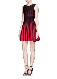 RVN'Diamond' jacquard flare dress