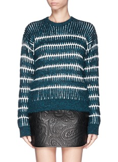 ALEXANDER WANG  Mohair-wool stripe sweater