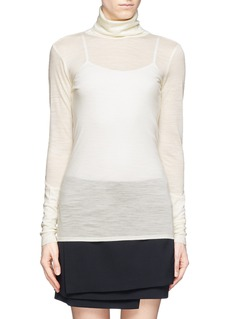 HELMUT LANG Wool jersey turtleneck top