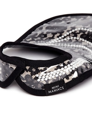 Detail View - Click To Enlarge - Mini Maniacs - 'Dolled Up' faux pearl necklace lace bib