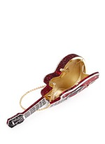 'Red Devil' guitar crystal pavé minaudière