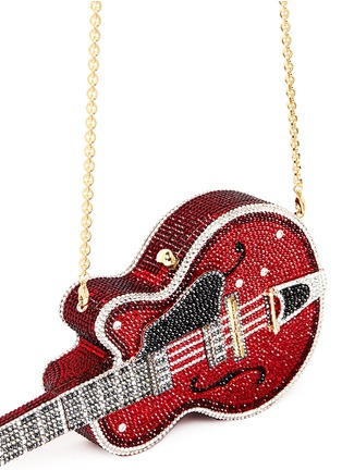Detail View - Click To Enlarge - Judith Leiber - 'Red Devil' guitar crystal pavé minaudière