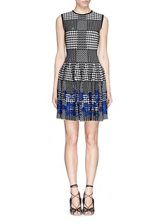 ALEXANDER MCQUEEN'Prince of Wales' floral jacquard dress