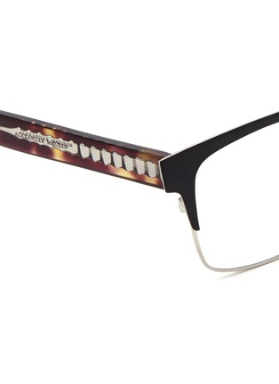 Detail View - Click To Enlarge - Alexander McQueen - Metal brow bar acetate optical glasses