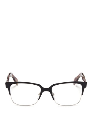 Main View - Click To Enlarge - Alexander McQueen - Metal brow bar acetate optical glasses