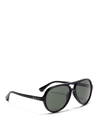 模特儿示范图 - 点击放大 - RAY-BAN - Acetate aviator sunglasses