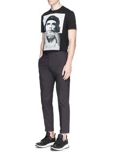 Neil Barrett'Che Guevarius' hybrid print T-shirt