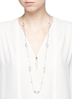 CZ by Kenneth Jay Lane Glass crystal station necklace