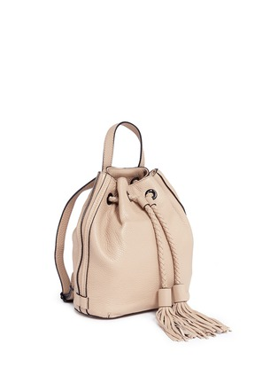 Detail View - Click To Enlarge - Rebecca Minkoff - 'Isobel' small tassel drawstring leather backpack