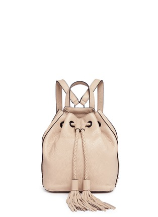 Main View - Click To Enlarge - Rebecca Minkoff - 'Isobel' small tassel drawstring leather backpack