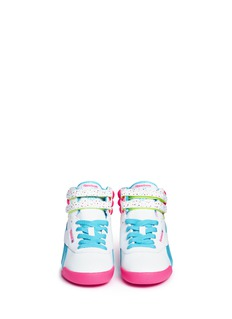 Reebok 'Freestyle Hi Birthday' colourblock leather kids sneakers