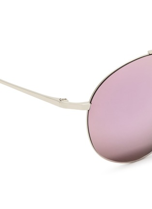 Detail View - Click To Enlarge - Matthew Williamson - Metal round aviator mirror sunglasses