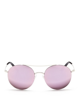 Main View - Click To Enlarge - Matthew Williamson - Metal round aviator mirror sunglasses