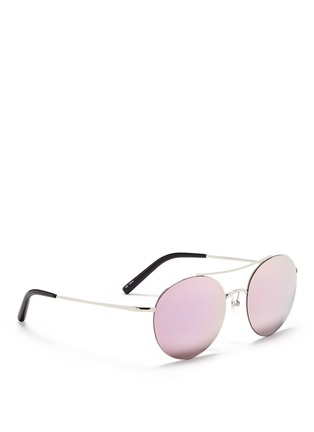Figure View - Click To Enlarge - Matthew Williamson - Metal round aviator mirror sunglasses