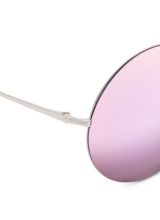 Detail View - Click To Enlarge - Matthew Williamson - Metal round mirror sunglasses