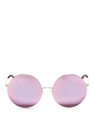 Main View - Click To Enlarge - Matthew Williamson - Metal round mirror sunglasses