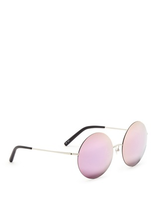 Figure View - Click To Enlarge - Matthew Williamson - Metal round mirror sunglasses