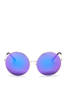 Matthew WilliamsonOversized metal round mirror sunglasses