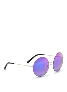 Matthew Williamson Oversized metal round mirror sunglasses