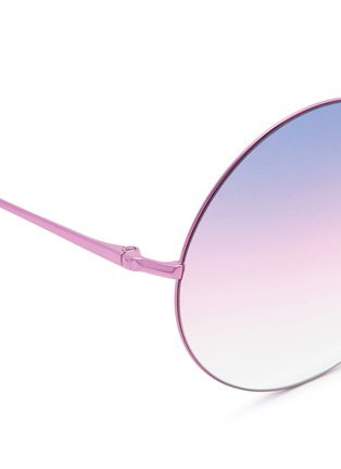 Detail View - Click To Enlarge - Matthew Williamson - Oversize metal round sunglasses