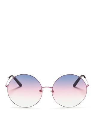 Main View - Click To Enlarge - Matthew Williamson - Oversize metal round sunglasses