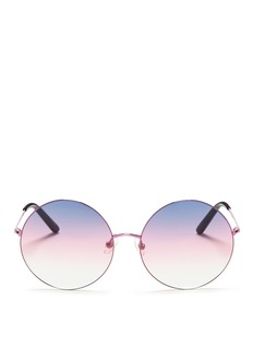 MATTHEW WILLIAMSON金属圆框太阳眼镜