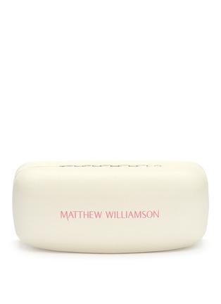 Matthew Williamson-Large gradient metal aviator sunglasses