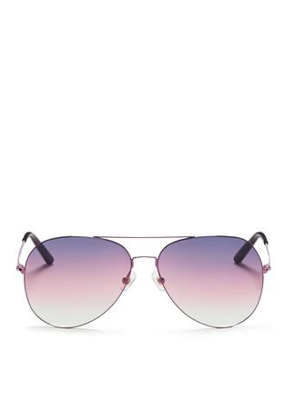 Main View - Click To Enlarge - Matthew Williamson - Large gradient metal aviator sunglasses