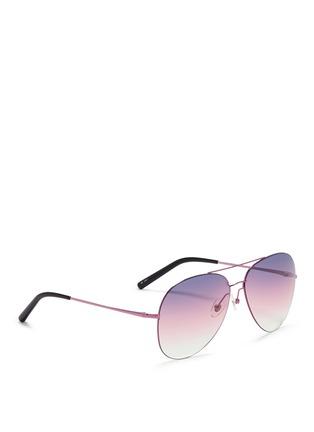 Figure View - Click To Enlarge - Matthew Williamson - Large gradient metal aviator sunglasses