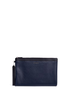 Want Les Essentiels De La Vie 'Barajas' python embossed leather zip pouch