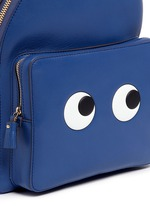 'Eyes Mini' embossed leather backpack